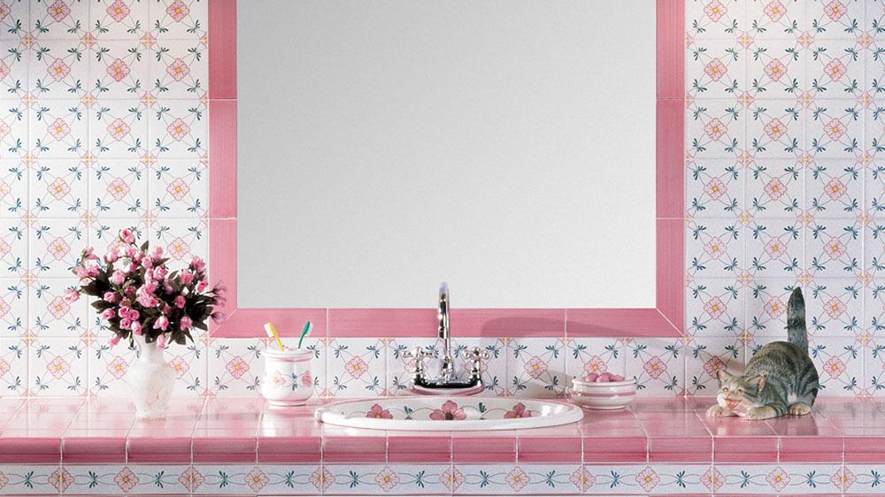 Rivestimenti Bagno Provenzale : Piastrelle bagno rosa good bagni provenzali