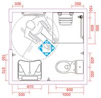 legislazione per la progettazione di bagno per disabili e anziani